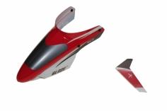 Blade Ersatzteil mSR Kabinenhaube Rot mit Vertikalfinne