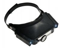 Kopfbandlupe mit LED Licht und zweiter Lupe