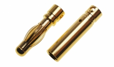 Goldkontaktstecker 4,0mm 1 Paar