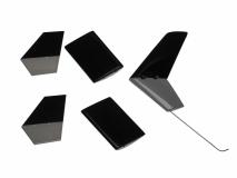 Airwolf Seiten- und Höhen- Leitwerk Set für 450er