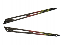 Blade 130 X Xtreme Carbon Heck Ausleger rot