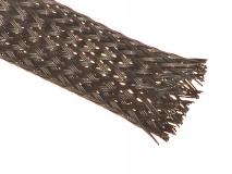 Geflechtschlauch 10mm schwarz 1 Meter