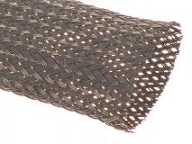 Geflechtschlauch 15mm schwarz 1 Meter