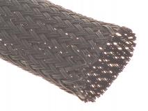 Geflechtschlauch 20mm schwarz 1 Meter