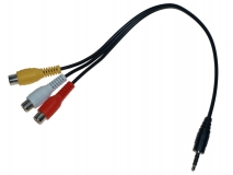 AV-Stereo Kabel Klinke-Chinch 25cm