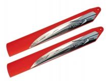 Xtreme Tuning Speed Hauptrotorblätter rot für Blade 130X