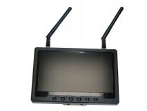 FPV Monitor 7 18cm 5,8Ghz mit DUO Empfänger inklusive Akku und Netzteil