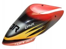 Lynx Kabinenhaube Air Brushed TDR rot gelb für Blade 130X