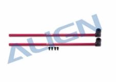 Align Heckrohr Alu rot T-REX 150