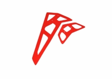 Fusuno vertikale und horizontale Finne rot T-REX 550
