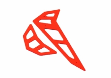 Fusuno vertikale und horizontale Finne rot T-REX 500