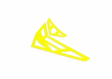 Fusuno vertikale und horizontale Finne gelb T-REX 450 Pro