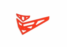 Fusuno vertikale und horizontale Finne orange T-REX 450 Pro