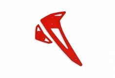 Fusuno vertikale und horizontale Finne rot Blade 450