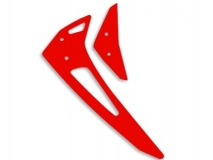 Fusuno vertikale und horizontale Finne rot für Blade 300X / 300CFX