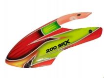 Rakonheli CFK Kabinenhaube rot/gelb für Blade 200SRX