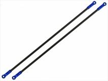 Rakonheli Heckstreben Carbon / Alu in blau für Blade 200SRX
