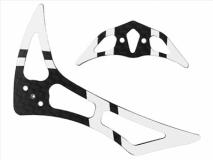 Rakonheli Leitwerk Set aus Carbon in silber für Blade 200SRX