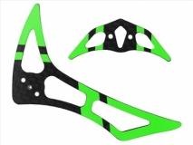 Rakonheli Leitwerk Set aus Carbon in grün für Blade 200SRX