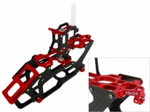 Rakonheli Hauptrahmen aus Carbon in rot für Blade 200SRX