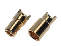 Goldkontaktstecker 6,0mm geschlitzt Löthalbschale 1Paar