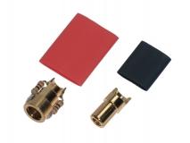 Antblitz Goldverbinder 6,0mm Stecker und Buchse