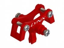 Lynx Heckstrebenhalterung mit Heckanlenkungsführung rot für Blade 130X