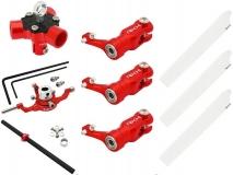 Rakonheli 3 Blattrotorkopf Set aus Alu in rot für Blade 200SRX