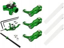 Rakonheli 3 Blattrotorkopf Set aus Alu in grün für Blade 200SRX