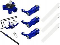 Rakonheli 3 Blattrotorkopf Set aus Alu in blau für Blade 200SRX