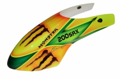 Fusuno Monster Airbrush fiberglas Haube für Blade 200SRX