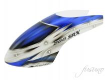 Fusuno Assasin blau Airbrush fiberglas Haube für Blade 200SRX