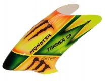 Fusuno Monster Airbrushed fiberglass Haube für Robbe Trainer CP