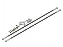 Lynx Heckstreben Set mit Heckstrebenhalter in silber für Align T-REX 150