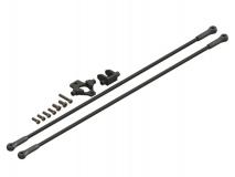 Lynx Heckstreben Set mit Heckstrebenhalter in schwarz für Align T-REX 150