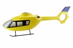 500er Rumpf Eurocopter EC 135 in gelb
