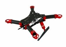 Rakonheli Carbon Hauptrahmen mit Landegestell rot für Blade 200QX