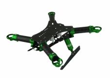 Rakonheli Carbon Hauptrahmen grün mit Landegestell für Blade 200QX