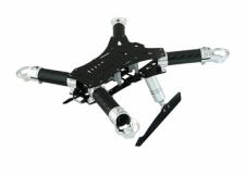 Rakonheli Carbon Hauptrahmen mit Landegestell silber für Blade 200QX