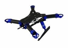Rakonheli Carbon Hauptrahmen blau mit Landegestell für Blade 200QX