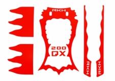Rakonheli Designaufkleber rot für Blade 200QX