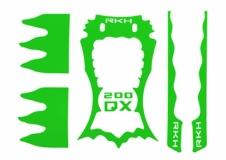 Rakonheli Designaufkleber grün für Blade 200QX