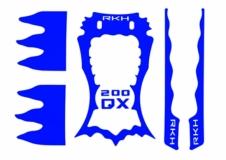 Rakonheli Designaufkleber blau für Blade 200QX