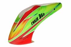 Fusuno Rocket Airbrush fiberglass Haube für KDS Chase 360