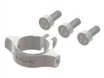 Lynx Heckstrebenhalter aus Alu in silber für Blade 180CFX