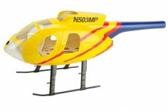 250er Scale Rumpf Hughes MD500E gelb/blau für Align T-REX 250