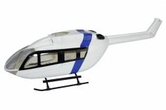 450er Rumpf Eurocopter EC145 Weiß/Blau