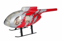 450er Scale Rumpf MD 500E G-Jive Rot