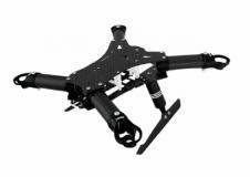 Rakonheli Carbon Hauptrahmen schwarz mit Landegestell für Blade 200QX