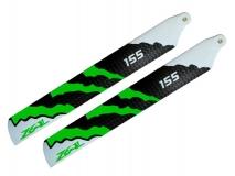 ZEAL Carbon Hauptrotorblätter 155mm grün